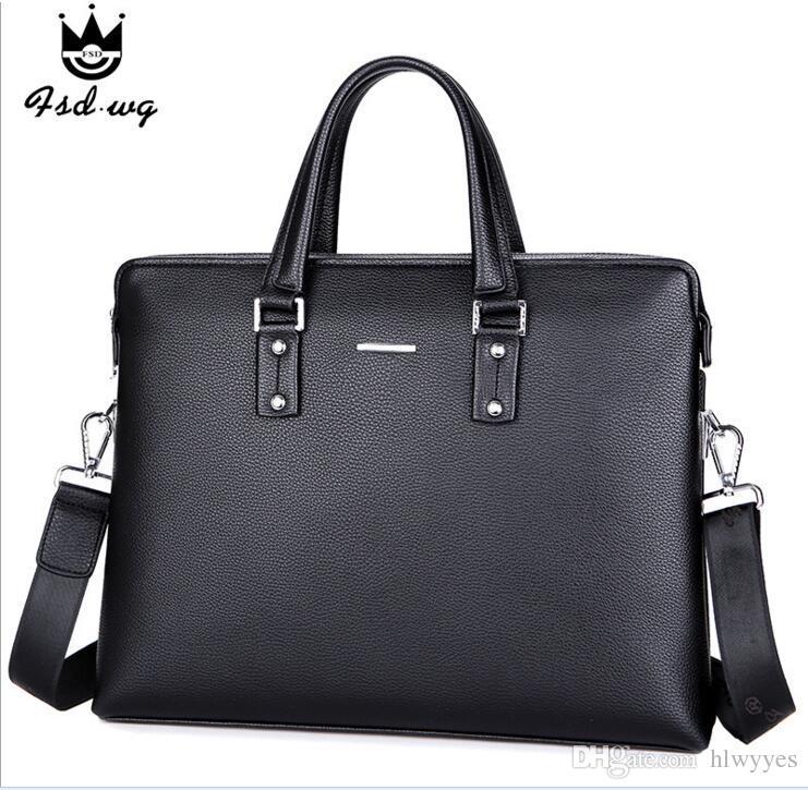 Huashi Herren Handtasche ist eine einfache Mode-Design-Tasche mit einem Business-Aktenkoffer, 8970