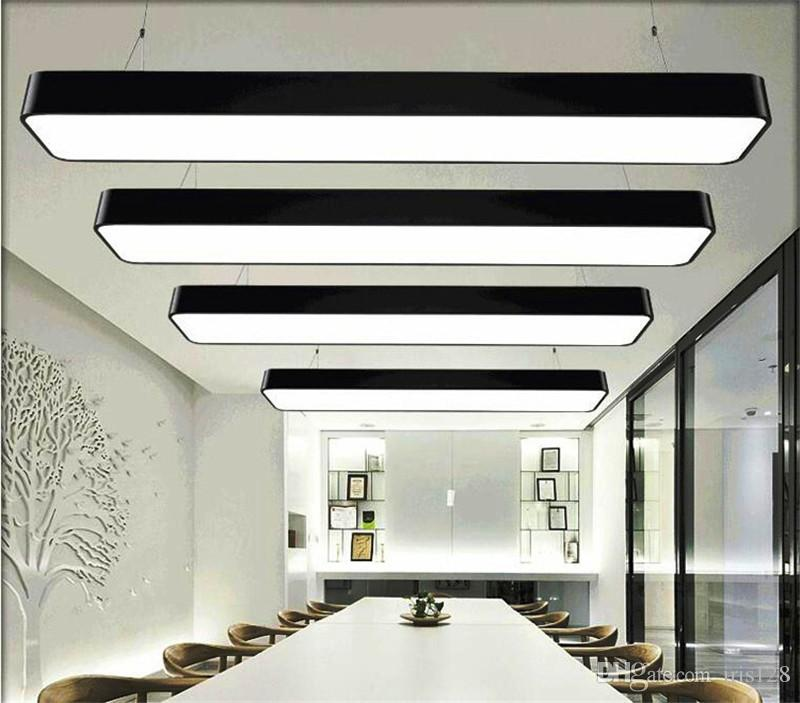 Hanging Wire Aluminum Ceiling Lamp Office 120cm Bar Lights