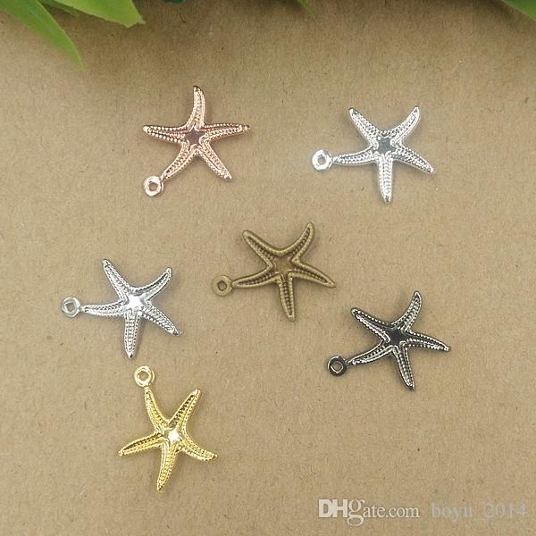 BoYuTe 100 Pz 15 * 18mm i vintage Starfish fascini ottone all'ingrosso Materiale fascini del pendente Gioielli fai da te