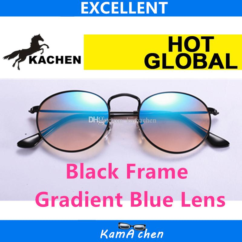 Compre Kachen   12 002 4q 50mm Tamanho Preto Frame Gradiente Azul ... b0f93686d2