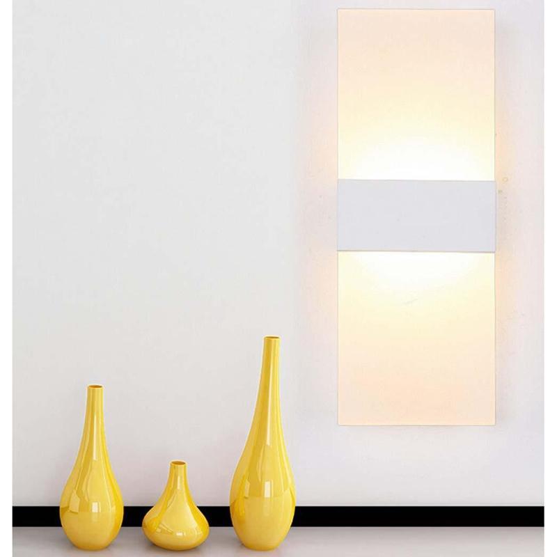 Moderno Acrílico 12 W LED Arandelas de Parede de Alumínio Luminária Para Cima e Para Baixo Luz Decorativa Lâmpada Night Light para o Caminho, Escada, quarto
