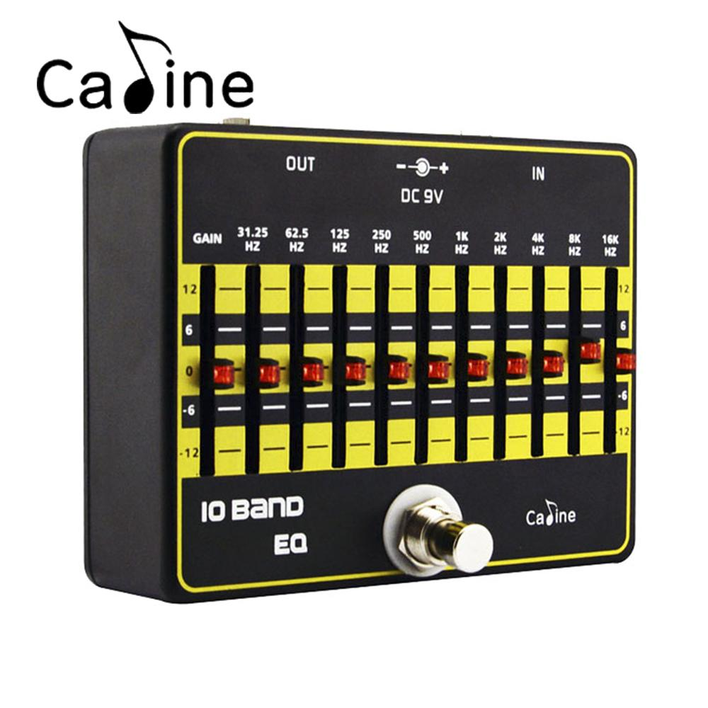 Caline CP-24 10 Band EQ Equalizer Electric Guitar Effect Pedal Aluminium Alloy True Bypass Design