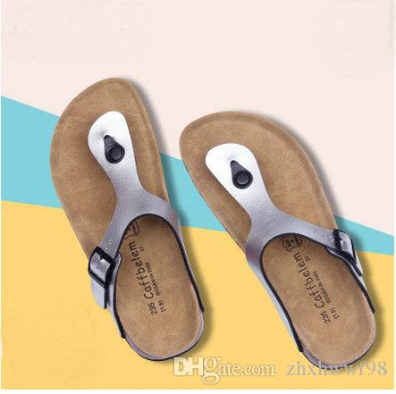 0ab0c22d117 Hot Sell Beach Cork Flip Flops Slipper 2017 Casual Summer Women Mixed Color  Outdoors Sandals Flat Shoe Plus Size Desert Boots Mens Slippers From  Zhxhwwf98