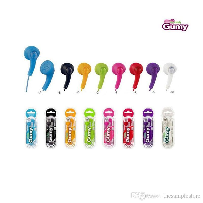 Gumy Gummy Kopfhörer Ohrhörer 3.5mm Kopfhörer HA-F150 ohne MIC und Fernbedienung Für Smartphone Android Handy mehrfarbig