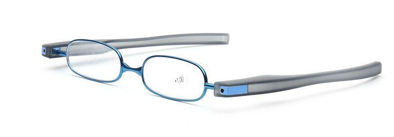 10 pz / lotto New fashion 360 gradi di lettura occhiali da lettura pieghevole in resina lettori di occhiali da lettura ultra-leggeri da +1.0 a +4.0