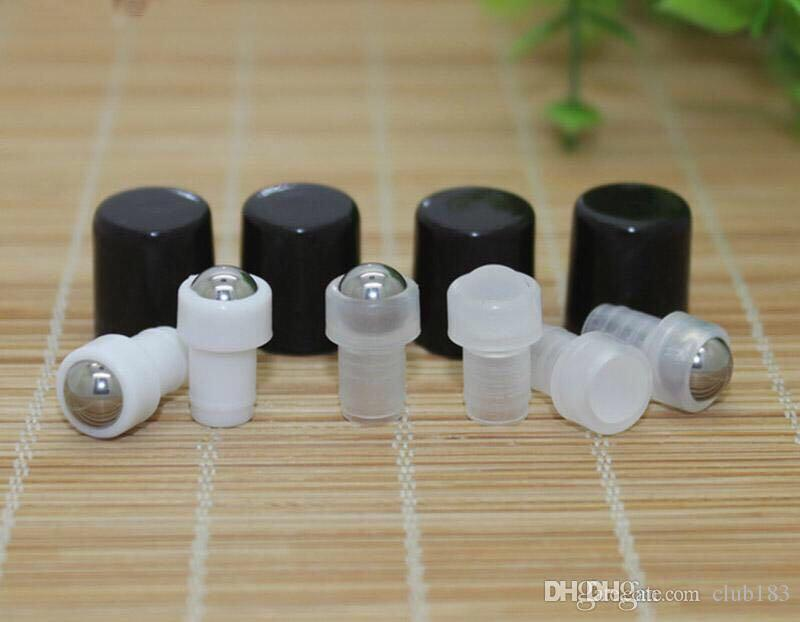 Freies Verschiffen / leere Duftstoffflasche 2 ml Kleine Bernstein Rollerflaschen ätherisches Öl Glasflasche 2 ml Roll-On Flasche aus schwarzem Kunststoff Cap