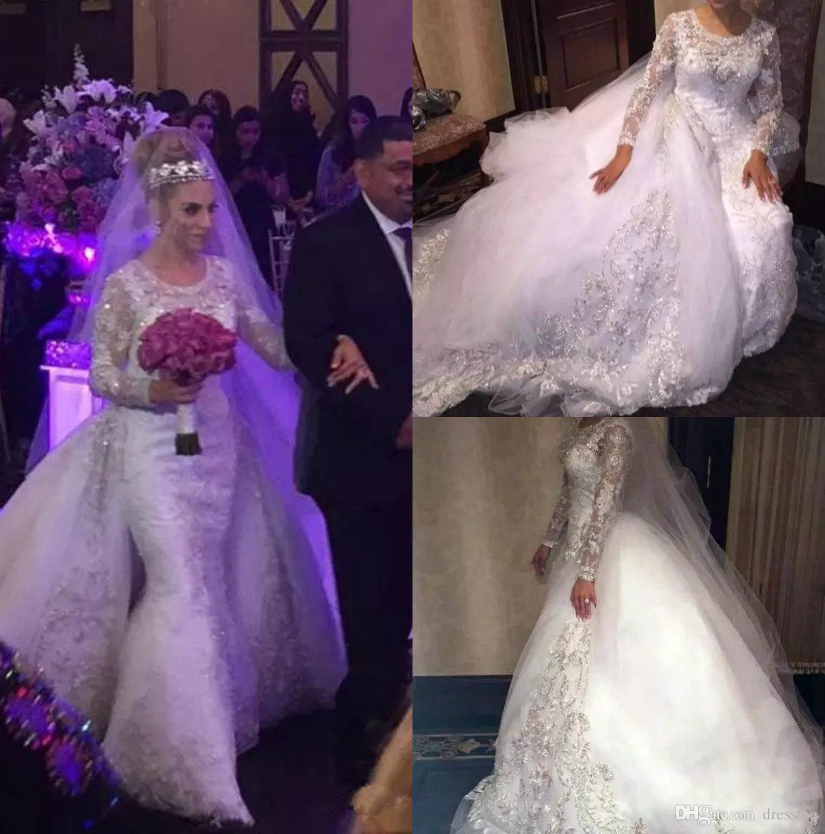 Compre Vestidos De Boda Bling De Lujo Más El Tamaño De La Joya Del ...