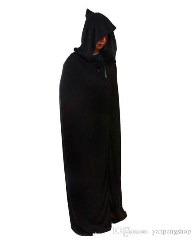 halloween costumes death cloak black death cloak black cap long cloak best christmas toys for kids christmas boy toys from yanpengshop 849 dhgatecom - Halloween Costume Death