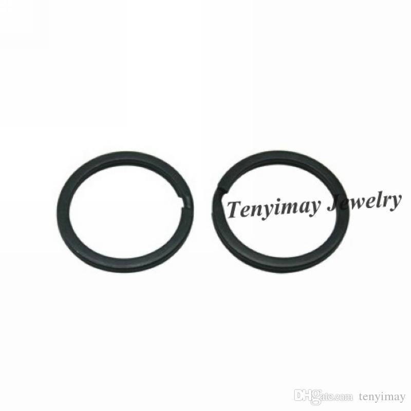 Black Metal Keyrings 25mm anillos baratos para Pte envío gratis