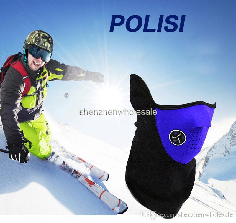 Neoprene Neck Warm Half Face Mask Winter Veil Windproof For Sport Bike Bicycle Motorcycle Ski Snowboard Outdoor Mask Men Women DHL Balaclava