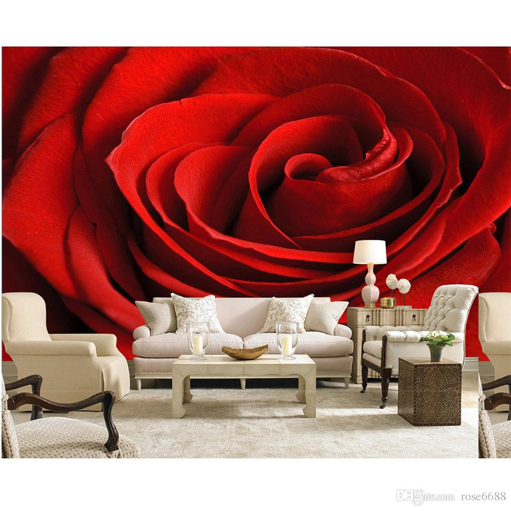 High Quality Customize Size Modern Red Roses Flower Custom