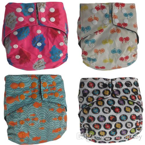 Naughtybaby Diapers One Size Cloth Diape Waterproof Breathable PUL Reusable Diapers Covers pants for Baby Fit 3-13kg Babys