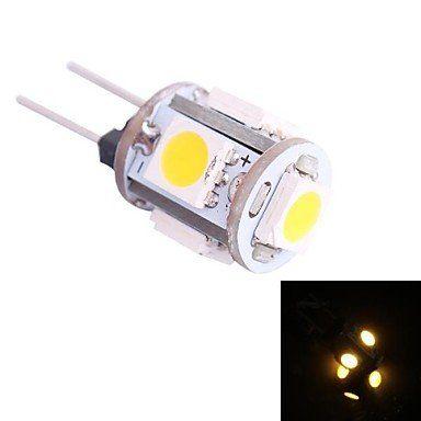 Just 5pcs G4 26 Smd Led Warm White Rc Marine Light Camper Spotlight Bulbs Lamp 12v 2w Lights & Lighting