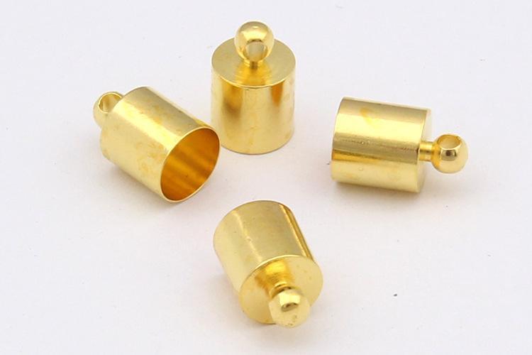 500pcs cobre del metal extremo de la cuerda Caps tubos, cable de bucles, cable de casquillos para resultados de la joyería collar de la pulsera Material Variedad especificación Optiona
