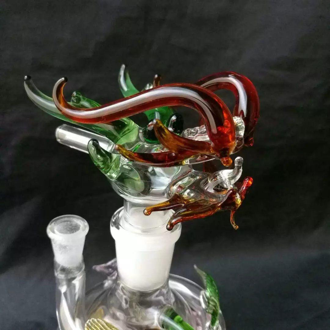 Narguilé en Verre Couleur Panlong ------ Tuyaux Sherlock Bubbler Tuyaux Colorés de Heady pour Fumer Poignée Huile Cigarette Tuyaux de Tabac Fumer du Verre