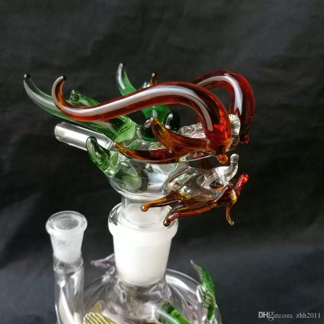 Цветной стеклянный кальян Panlong ------ Шерлок барботер трубы цветные пьянящие трубы для курения поручень масло сигареты табачные трубы курение стекла
