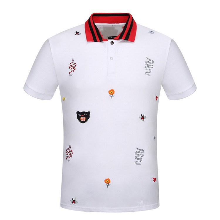 Best 2018 luxury brand men polo shirt high end 100 cotton for Polo shirts for printing