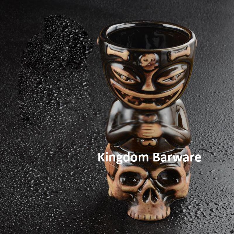 Wholesale Skull Doll Tiki Mug Cocktail Cup Beer Wine Mug