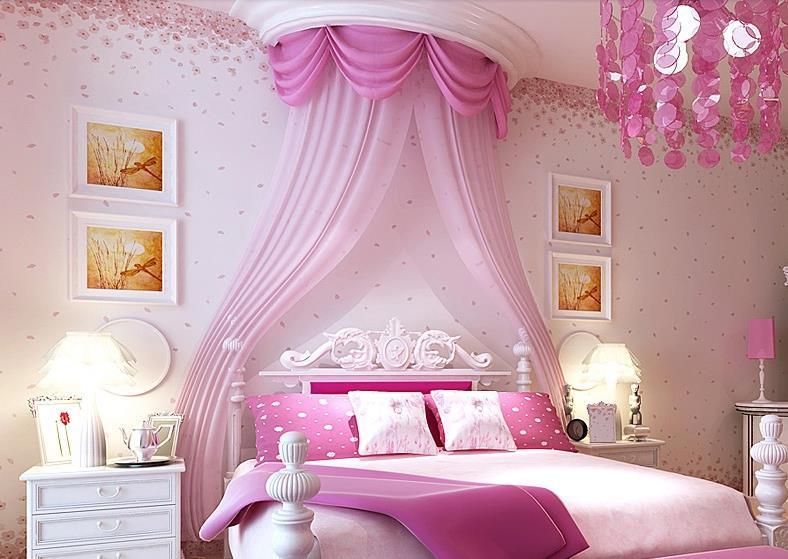 Kids Room Pastoral Warmer Bedroom Living Room Pink Tv Backdrop ...