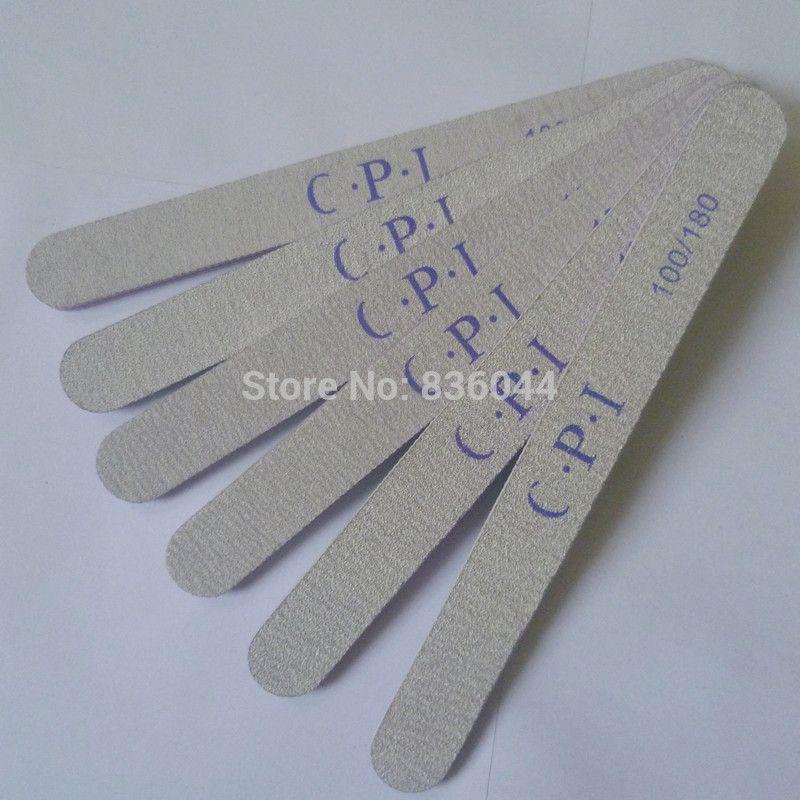 Wholesale Grey Curve File Buffing Buffer Sandpaper Round Shape Salon ...