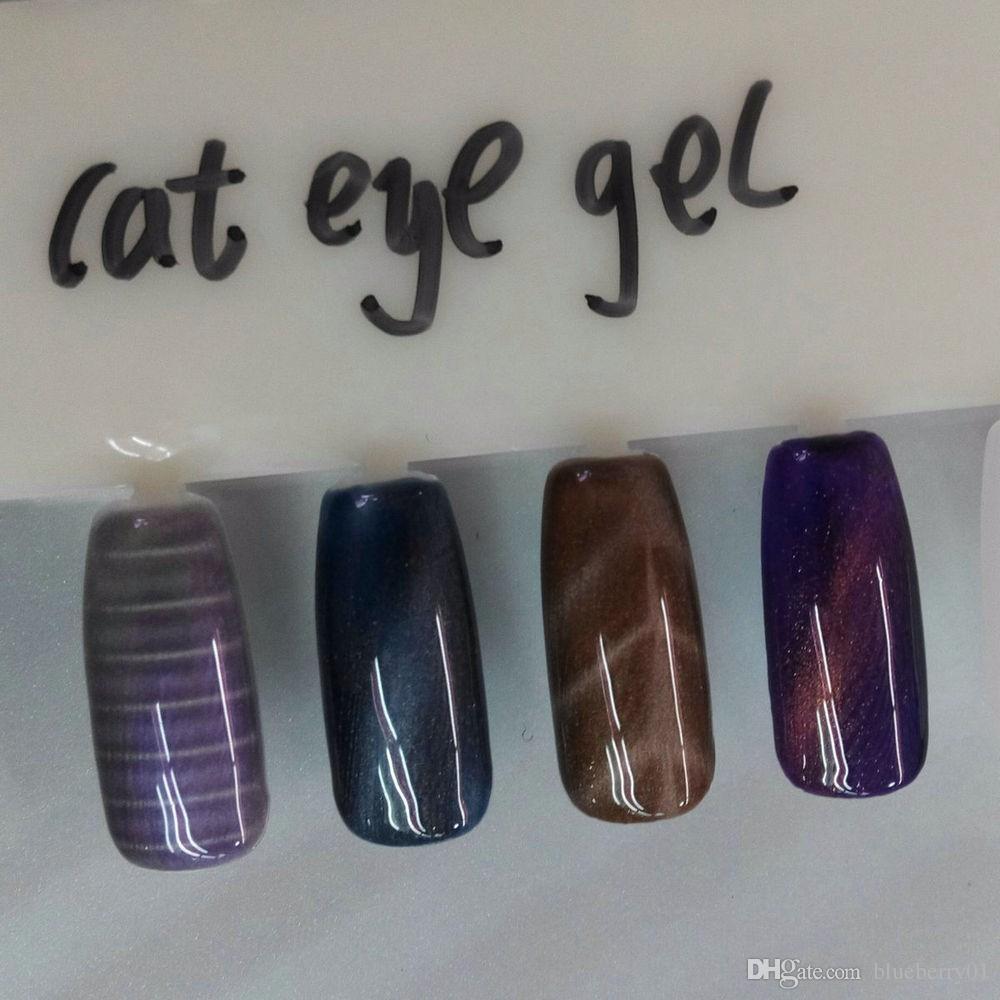 11 Adet / takım Kedi Göz Mıknatıs Kedi Göz Kalem 3D Mıknatıs Sopa için Manyetik Çizim Dikey Sopa Tırnak Jel Lehçe Büyülü Tırnak Aracı
