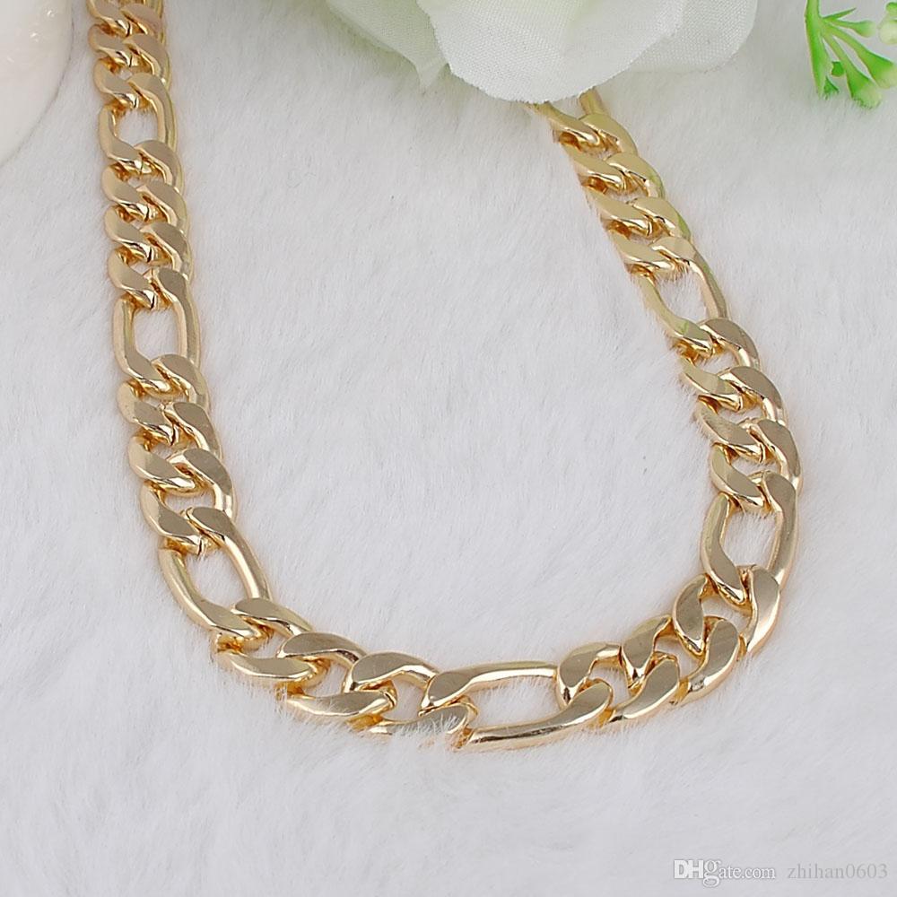 Novo design homens moda kc ouro ouro cadeia colar mulheres vintage pingente colar de jóias personalizam