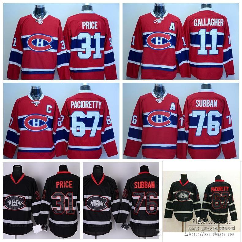 ... 2017 2016 Best Montreal Canadiens 31 Carey Price Ice Hockey Jerseys  Sale Red Black 11 Brendan ... 4c8b4db8b