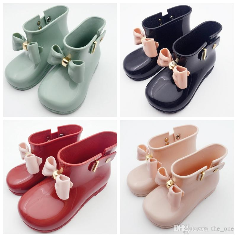 13e54942a Waterproof Child Rubber Boots Jelly Soft Infant Shoe Girl Boots Baby Rain  Boots Kids With Bow Girls Children Rain Shoes Bow Girls Boot Sale Western  Boots ...