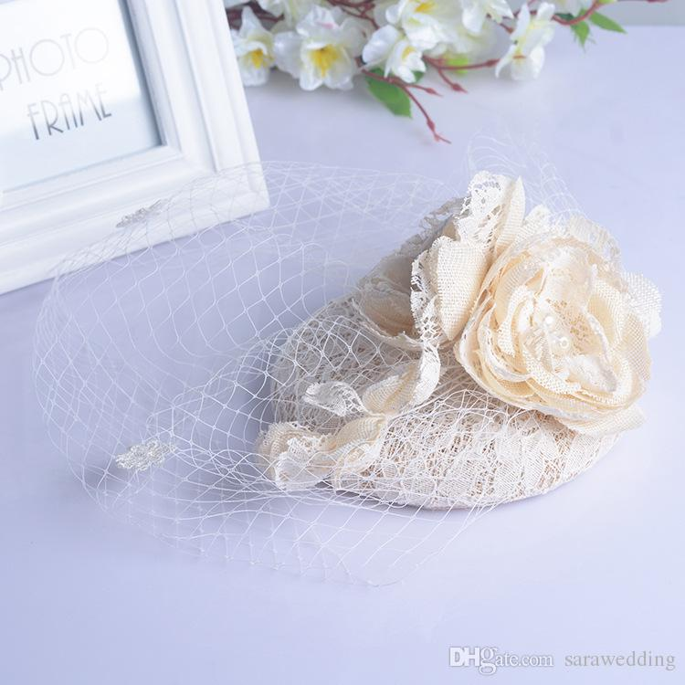 Wedding Bridal Bridesmaid flower headdress veil hat Crown Wedding Supplies Headdress Beautiful Headdress Bridal Hair Jewelry Accessories
