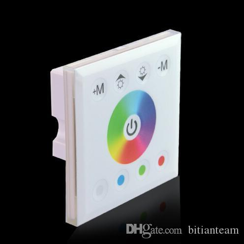 86 Wall Mounted LED RGBW Touch Panel Full Color Controller DC12 - 24V 4A * 4CH For 5050 3528 3014 Lamp RGB Strip Light