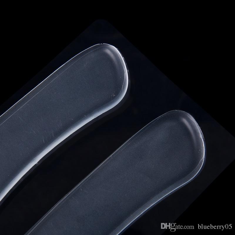 Atacado Auto-adesivo Sapato Palmilhas Heel Colar Silicone Gel Anti-Slip Pad Palmilha Cuidados Com Os Pés Almofada Do Calcanhar Protetor Alívio Gel Calcanhar Liner Gri