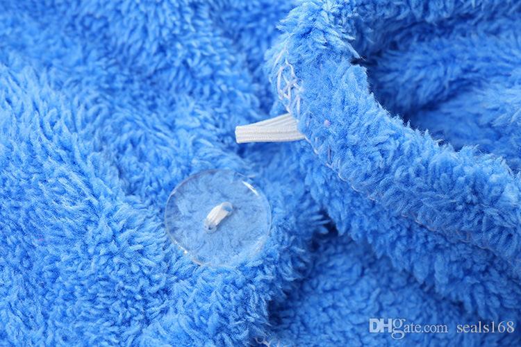 Душевые колпачки из микрофибры для волос для волос для женщин Супер Абсорбирующие Быстрые сухие волосы тюрбан сушка вьющиеся вьющиеся длинные густой купальника Cap HH21-257