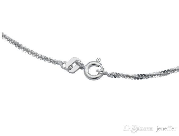 Factory sale S925 Sterling silver Personality silver chain necklace fit pendant clavicle link Italian Chain Twist Chain 16inch 18inch