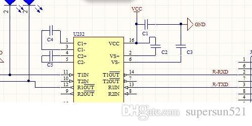 Compre Esquema De Rs232 A Ttl Y Diagrama De Pcb Max232 Rs232 Ttl Ttl ...