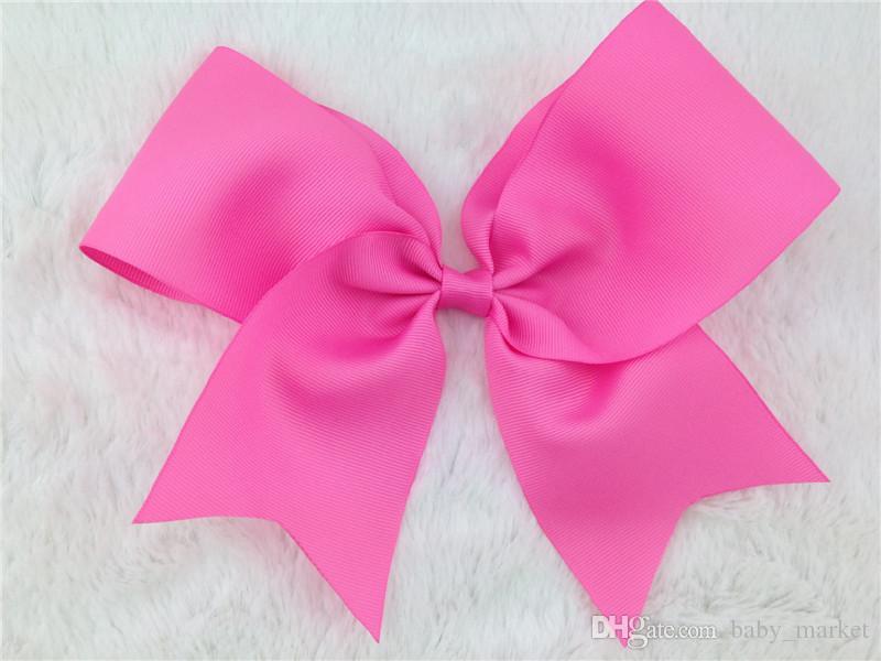 8inch Ruban Hair Boutique Bow avec pince à cheveux Alligator pour les accessoires de cheveux de bébé 196 couleurs disponibles! /