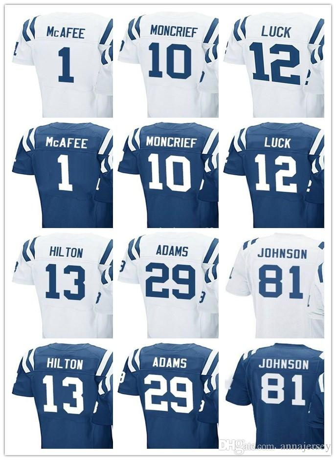 ... 2017 MenS Indianapolis Colt Jersey Women Youth 1 Pat Mcafee 10 Donte  Moncrief 12 Andrew Luck ... 0928471ee