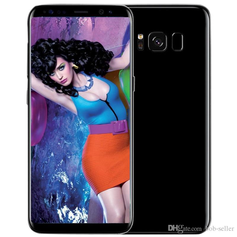 Goophone S8 S8+ plus android 7.0 shown 4G LTE MTK6592 octa core 4GB RAM 64G ROM t-mobile WCDMA smart cell phones
