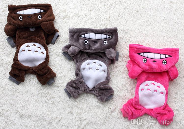 Soft Warm Dog Clothes Coat Pet Costume Fleece Clothing For Dogs Puppy Cartoon Winter Hooded Jacket Autumn Apparel XS-XXL