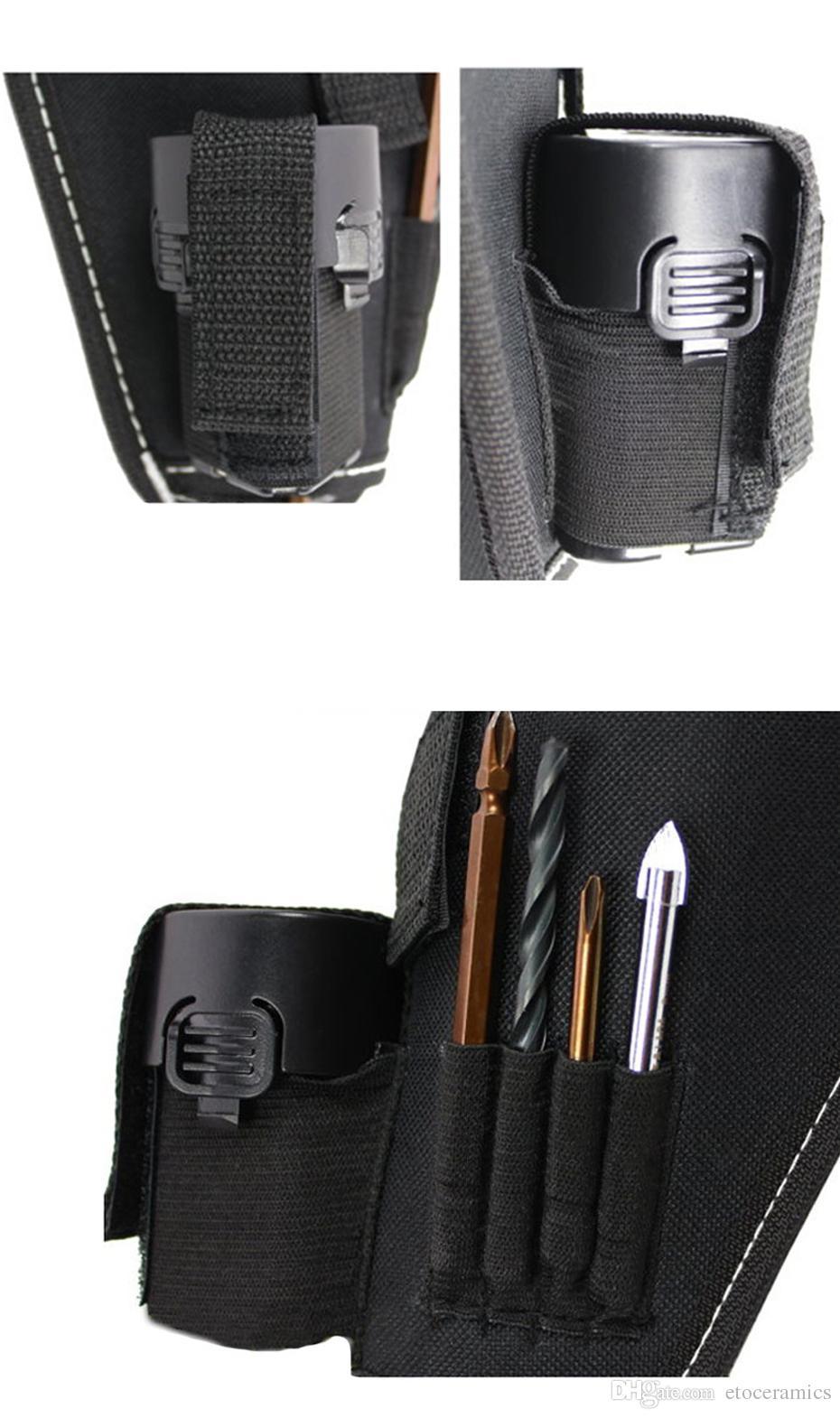 Oxford Fabric Tool Bag Elektrisk Trådlös Borrhållare Midje Verktyg Väska Elektriker Toolkit