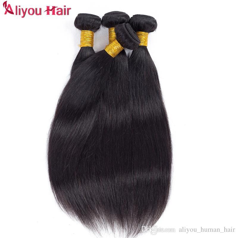 İyi Satış Günlük Vizon Brezilyalı Düz Bakire saç örgüleri Islak ve Dalgalı Remy İnsan Saç Paketler at kuyruğu Toptan Saç Uzantıları Fiyatları