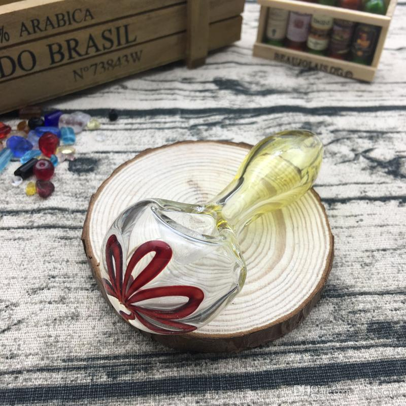 Flower head hand pipe wholesale price high quality glass pipe for smoking use 3.7 inches HP-050