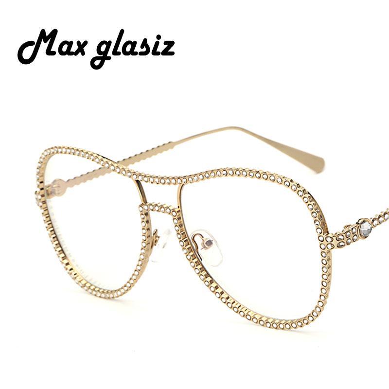 17d174d19e44 Wholesale Women Luxury Diamond Metal Shades Glasses Female Unique Brand  Design Sun Glasses Clear Lens Fashion Style Sunglasses UV400 Heart  Sunglasses Circle ...