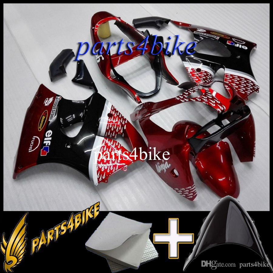 ABS Fairing for Kawasaki ZX6R 00 02 ZX-6R 2000 2002 00 01 02 arrow red black Aftermarket Plastic Body Kit