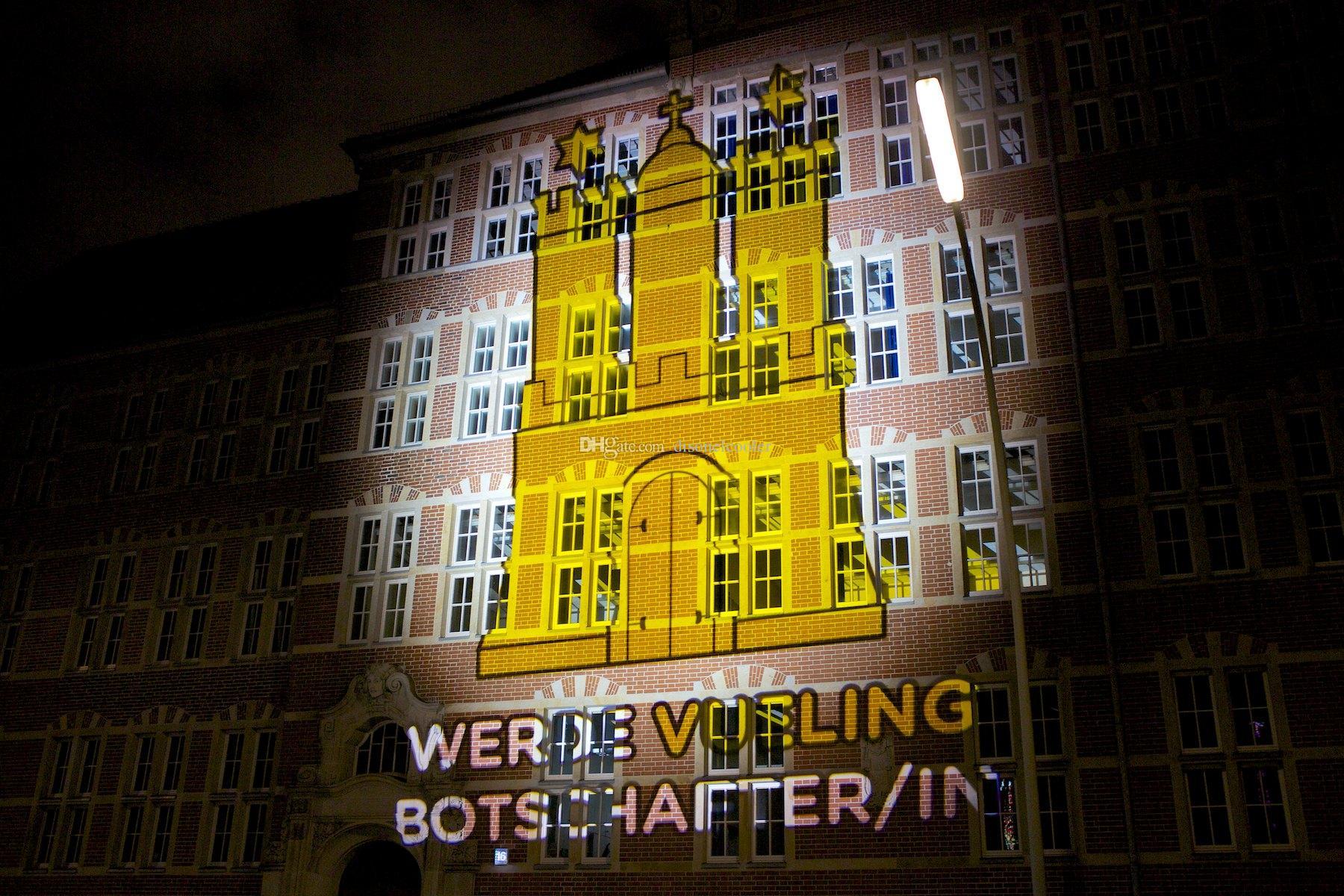 Alta luminosità 200W Led Pubblicità o Evento Gobo Proiezione Navigazione Illuminazione illuminare i tuoi modelli personalizzati su edificio o palcoscenico