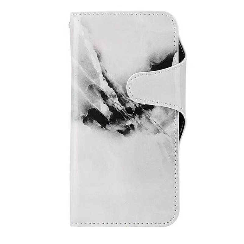 Fashion Marble Stone PU Leather Wallet Case For Iphone X 8 7 Plus 6 6S Galaxy S8 Card ID Slot Holder Granite Rock Flip Cover Case Pouch TPU