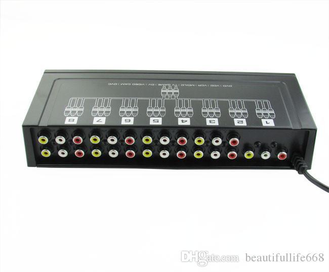 8 портов 1 в 8 из 8 способов 3 RCA AV Аудио Видео Splitter усилитель коробка для ТВ коробка HDTV DVD VCD