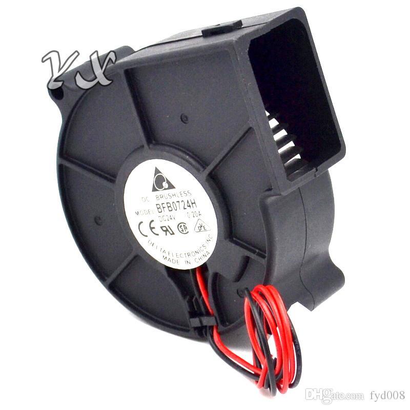 5.7mm l x 75.7mm x h 30mm BFB0724H inversor de 24V 7530 0.20A 7CM ventilador de enfriamiento turbo para delta