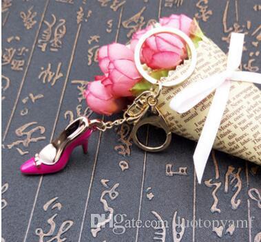 عالية الكعب مفتاح سلسلة أحذية عالية الكعب حقائب اكسسوارات السيارات حلقة رئيسية سلسلة قلادة متعدد الألوان عالية الكعب حلقة رئيسية هدية العيد المفاتيح