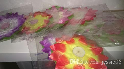 Lampada di candela di loto di seta impermeabile pregare che desiderano acqua galleggiante che desiderano lanterne la festa di nozze di San Valentino luci decorative di San Valentino