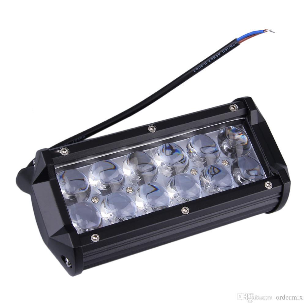 Motorcycle car modified headlights dual 36W CREE Strip lamp